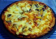 Homemade Pizza With Mild Tomato Sauce