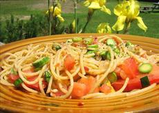 Spaghetti With Uncooked Tomato Sauce Southwestern Style