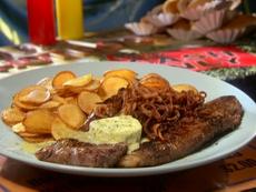 NY Strip Steak with Tarragon Melting Sauce