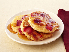 Strawberry Pancakes With Mamma Callie's Syrup