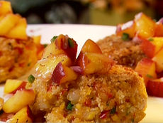 Shrimp Cakes with Peach Jalapeno Relish