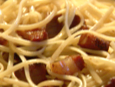 Linguine with Garlic Oil and Pancetta
