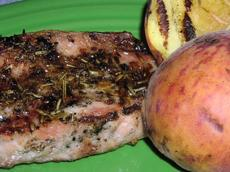 Grilled Pork Chops With Peaches (Ww)