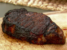 New York Strip Steak with Spicy Coffee Rub