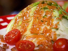 Wedge Salad with Homemade French Dressing