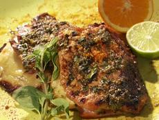 Butterflied Cuban Style Pork Chops
