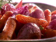 Roasted Radishes and Carrots
