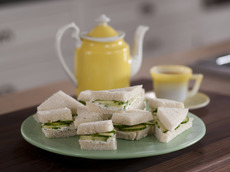 Cucumber and Lemony Dill Cream Cheese Tea Sandwiches