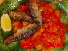 Grilled Sardines with Peperonata