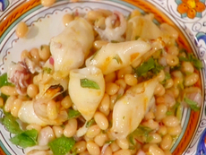 Grilled Calamari with Beans and Mint Oil