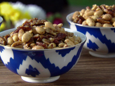 Newspaper Nuts: Indian Spiced Nuts with Coconut