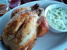 Martha's Cinnamon Broiled Chicken With Raita