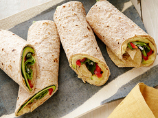 Hummus and Grilled Vegetable Wrap