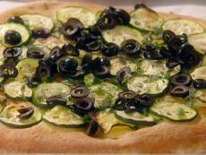 Zucchini and Olive Flatbread