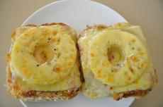 Toast Hawaii - Open Faced Sandwich for a Snack or Dinner