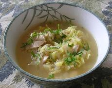 Chicken, Rice and Cabbage Soup