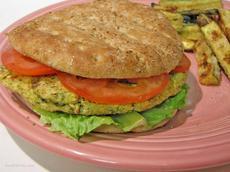 Lemon Chickpea Quinoa Burger