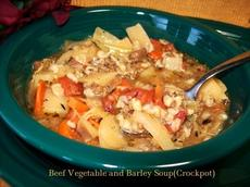 Beef Vegetable and Barley Soup
