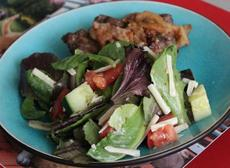 Mediterranean Salad With Homemade Dressing