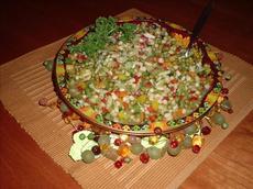 Shoepeg Corn and Baby Pea Salad