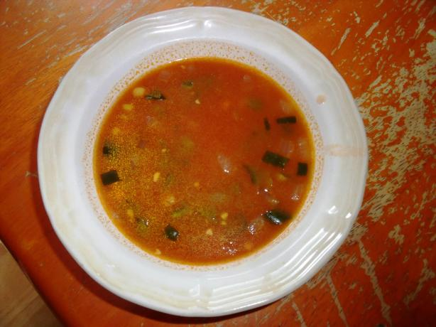 Mexican Poblano Soup With Broth