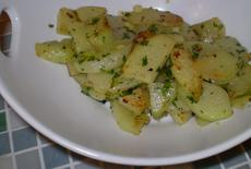 Sauteed Chayote With Garlic and Herbs