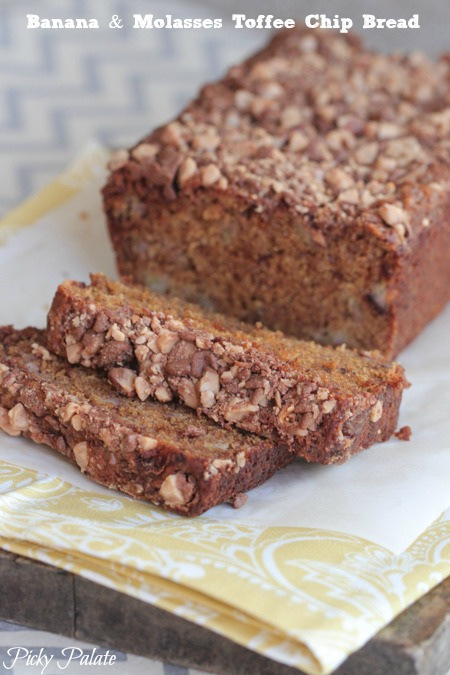 Banana and Molasses Toffee Chip Bread