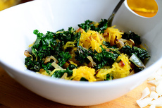 Roasted Spaghetti Squash with Kale