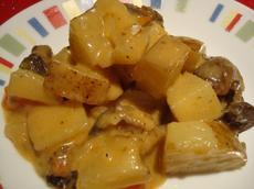 Easy Cheesy Skillet Scalloped Potatoes With Mushrooms