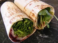 Turkey and Cranberry Wrap (21 Day Wonder Diet: Day 9)