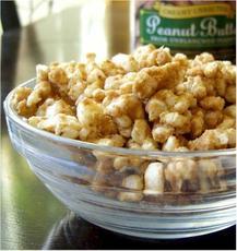 Peanut Butter Cinnamon Rice Cake Crumbles (Or Popcorn)