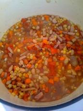 Zesty Ham and Bean Soup