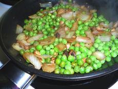 Peas, Onions & Mushrooms