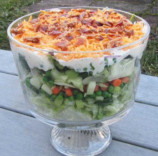 Yummier Ranch Layer Salad #RSC