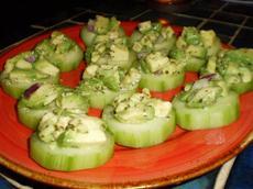 Cucumber Bruschetta (No Bread)