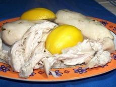 Poached Lemon Garlic Chicken