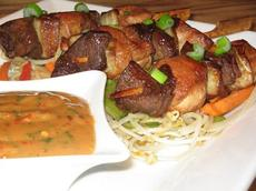 Spicy Beef Satay With Peanut Sauce