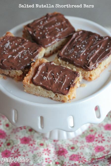 Salted Nutella Shortbread Bars