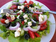 Kittencal's Greek Marinated Tomato, Olive and Feta Salad