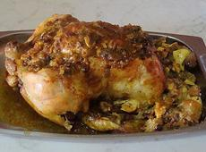 Indian Style Stuffed Roast Chicken