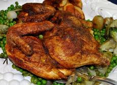 Butterflied Grilled Chicken with Curry and Cumin