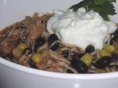 Slow Cooker Chicken and Corn Chili