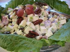 Waldorf Salad With Tart Cherries, Grapes, and Candied Pecans