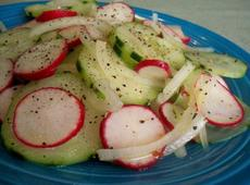 Cucumber, Red Onion, and Radish Salad