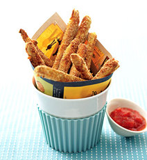 Baked Zucchini Fries with Tomato Coulis Dipping Sauce