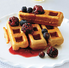 Whole-Wheat Peanut Butter Waffles