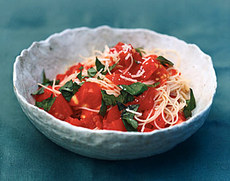 Angel-Hair Pasta with Fresh Tomato Sauce