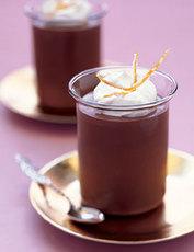 Chocolate-Orange Pots de Crème with Candied Orange Peel