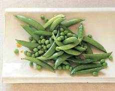 Fresh Green Peas and Sugar Snap Peas in Sesame Dressing