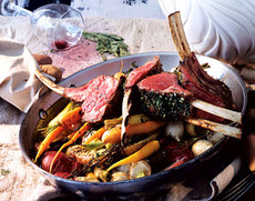 Rack of Lamb with Garlic and Herbs